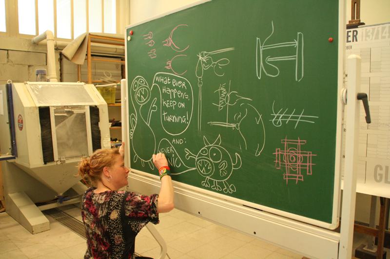 Workshop, mei 2014, door Geir Nustad met assistentie van Josja Schepman. De deelnemende studenten waren:  Wilma Van Rees,  Ingrid
